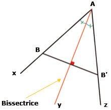 comment construire la bissectrice d'un angle