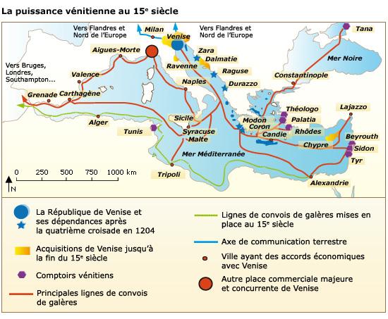 Cours De Histoire Géographie Un Grand Port Européen Venise Aux