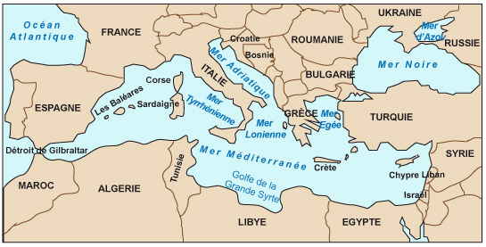 Carte Europe Bassin Mediterraneen.Cours De Histoire Geographie Premieres Une Aire De
