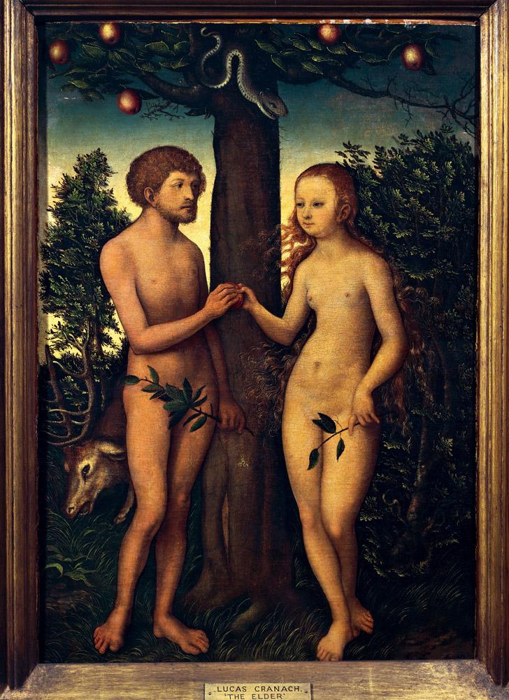 Cranach The Elder Adam And Eve Adam et Eve Lucas Cranach