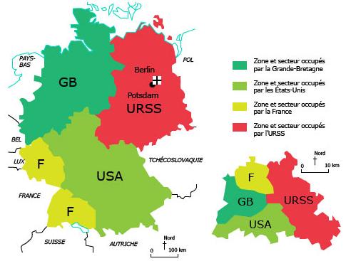 Carte Allemagne Divisee.Cours De Histoire Geographie 3e Etude De Cas L Allemagne