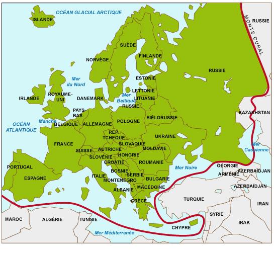 Carte Europe Geographique.Cours De Histoire Geographie Europe Europes Un