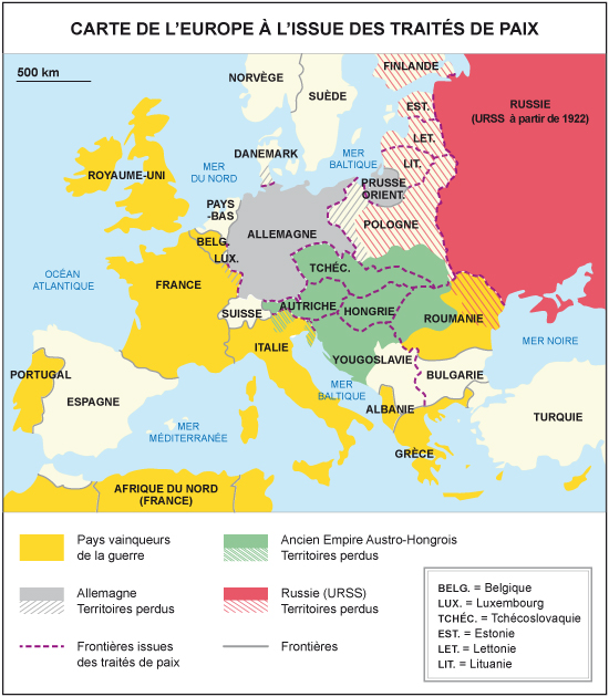 Cours de Histoire géographie 3e   Une nouvelle carte de l'Europe