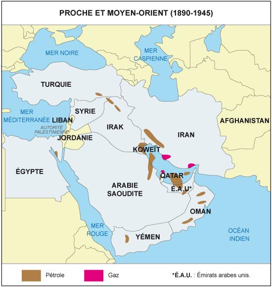 Carte De Leurope Et Moyen Orient.Cours De Histoire Geographie Proche Orient Et Moyen Orient