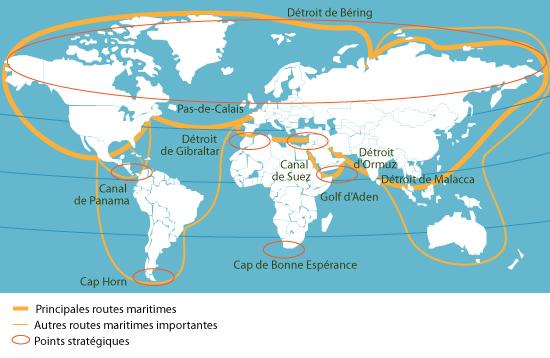 Cours de histoire g ographie terminales les routes - Distance en milles nautiques entre 2 ports ...